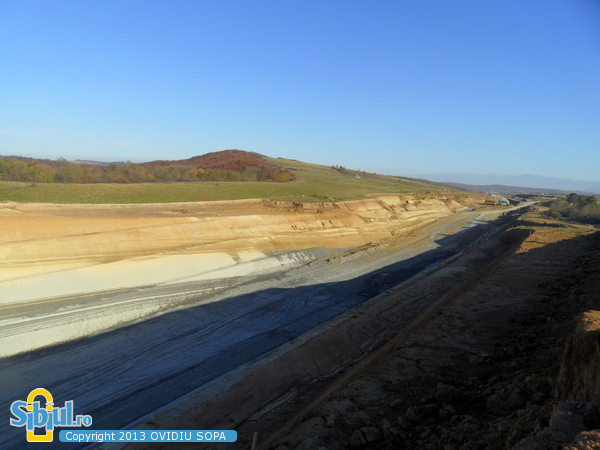 Autostrada A1 Orastie Sibiu / KM 63 / Tunel Aciliu / Octombrie 2013