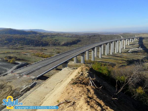 Autostrada A1 Orastie Sibiu / KM 63 / Viaduct Aciliu / Octombrie 2013