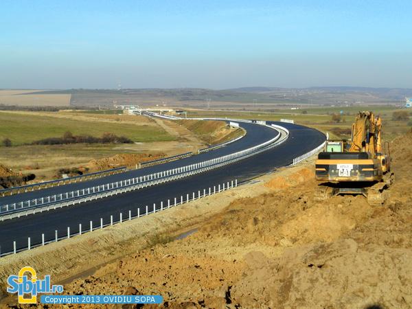 Autostrada A1 Orastie Sibiu / KM 66 / Nod rutier Saliste / Octombrie 2013