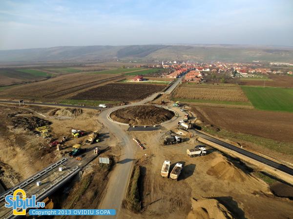 Autostrada A1 Orastie - Sibiu / Nod rutier Cunta / KM 44 / Noiembrie 2013