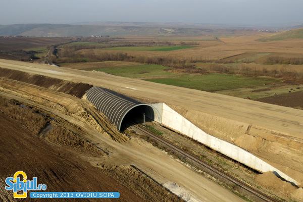 Autostrada A1 Orastie - Sibiu / Tunel Aciliu / KM 63 / Noiembrie 2013