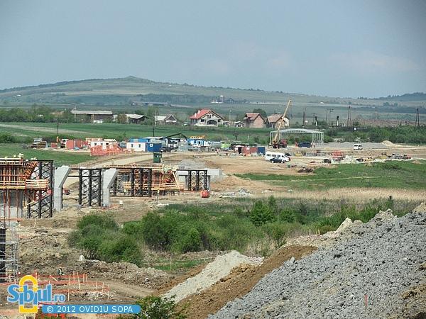 Autostrada A1 Orastie - Sibiu / Viaducte gemene Sacel (Km 70) - Mai 2012