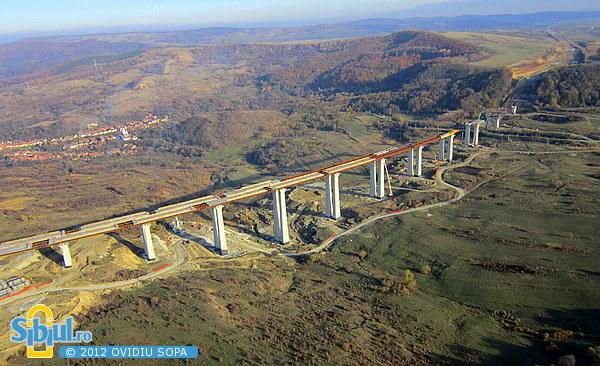 Autostrada A1 Orastie - Sibiu / Km 62 - 63 / Viaduct Aciliu