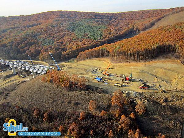 Autostrada A1 Orastie - Sibiu / Km73 / Viaduct peste vale