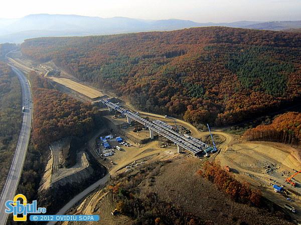 Fotografie aeriana Autostrada A1 Orastie - Sibiu / Km 73