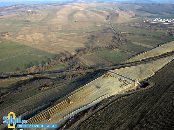 Fotografie Aeriana Autostrada A1 / Orastie - Sibiu / Km 44