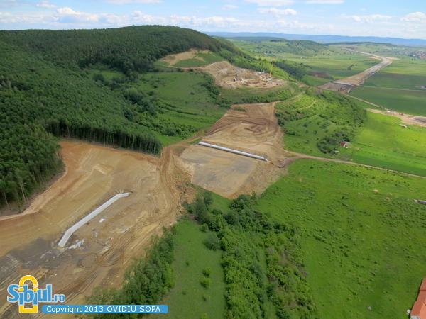 Autostrada A1 / Fotografie Aeriana in zona Sacel - Cristian / Km72