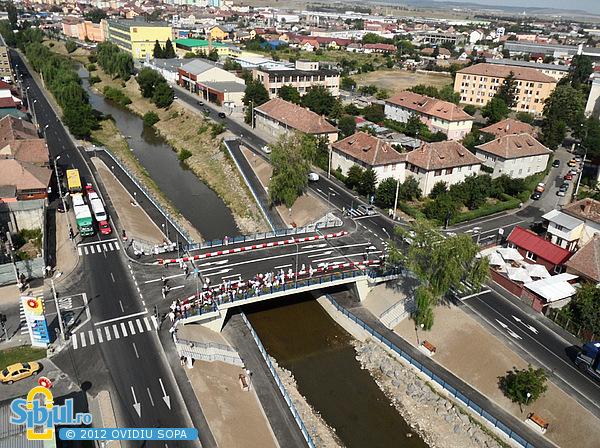 Fotografie Aeriana: Noul Pod peste Raul Cibin - Iulie 2012