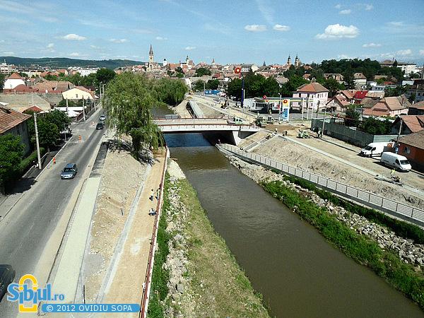 Fotografie Aeriana: Noul Pod peste Raul Cibin - Iunie 2012
