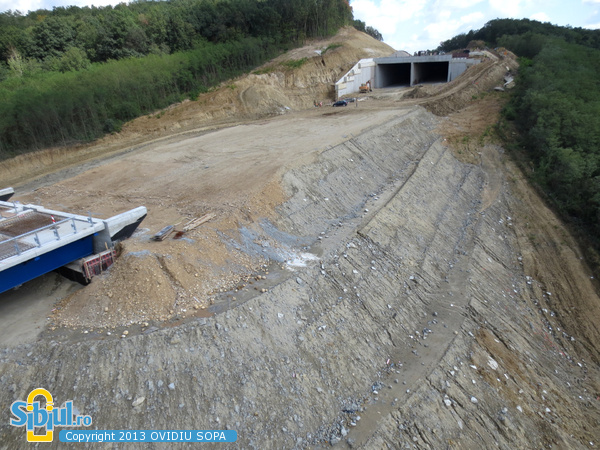 Autostrada A1 / KM72 / Viaduct si Tunel Sacel / 31 August 2013