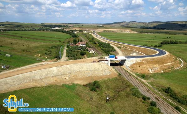 Autostrada A1 / KM66 / Pasaj pe DC67 peste CF / Nod Rutier Saliste / 31 August 2013