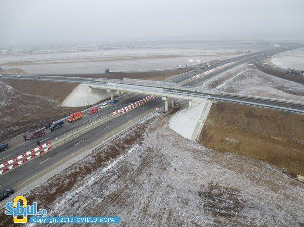 Inaugurare Autostrada A1 Orastie - Sibiu, Nod rutier Sura Mica