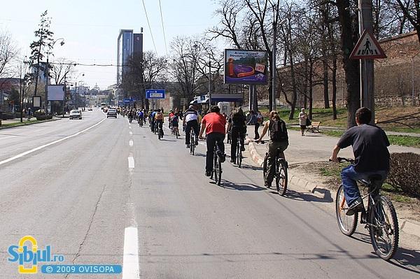 Marsul biciclistilor - Sibiu 2009