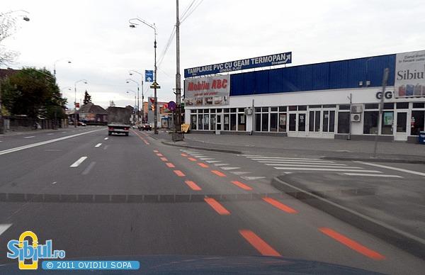 Pista de biciclete in Sibiu: Soseaua Alba iulia