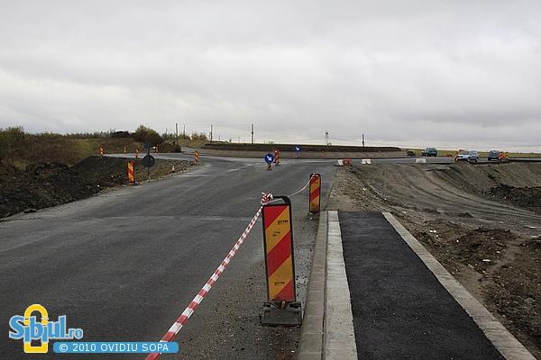 Sens giratoriu Centura Sibiului - DN106B (Ocna Sibiului) - 19.10.2010