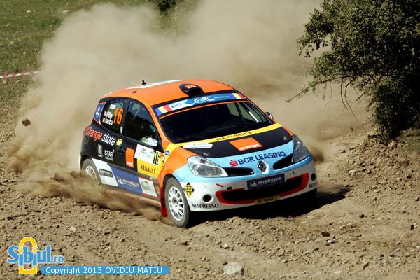 Echipajul Alex Filip - Bogdan Iancu Sibiu Rally ERC 2013