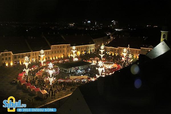 Targul de Craciun din Sibiu 2010 / Noaptea
