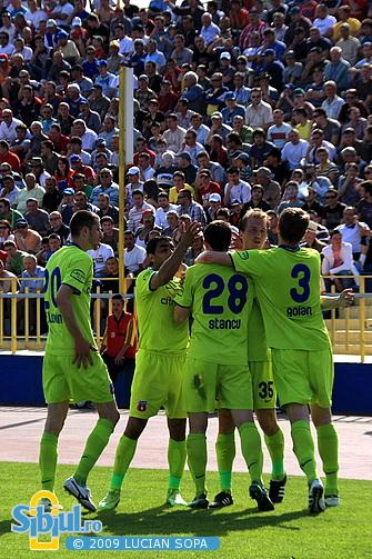 Steaua bucuroasa dupa gol