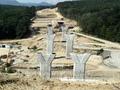 Viaduct peste vale si drum forestier la Km 73 + 050 / August 2012