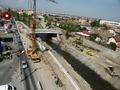 Fotografie aeriana in zona noului pod peste Raul Cibin (mai 2012)