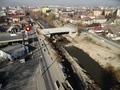 Fotografie aeriana in zona noului pod peste Raul Cibin (martie 2012)