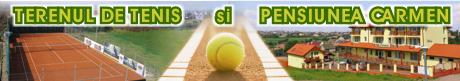 Terenul de tenis si pensiunea Carmen