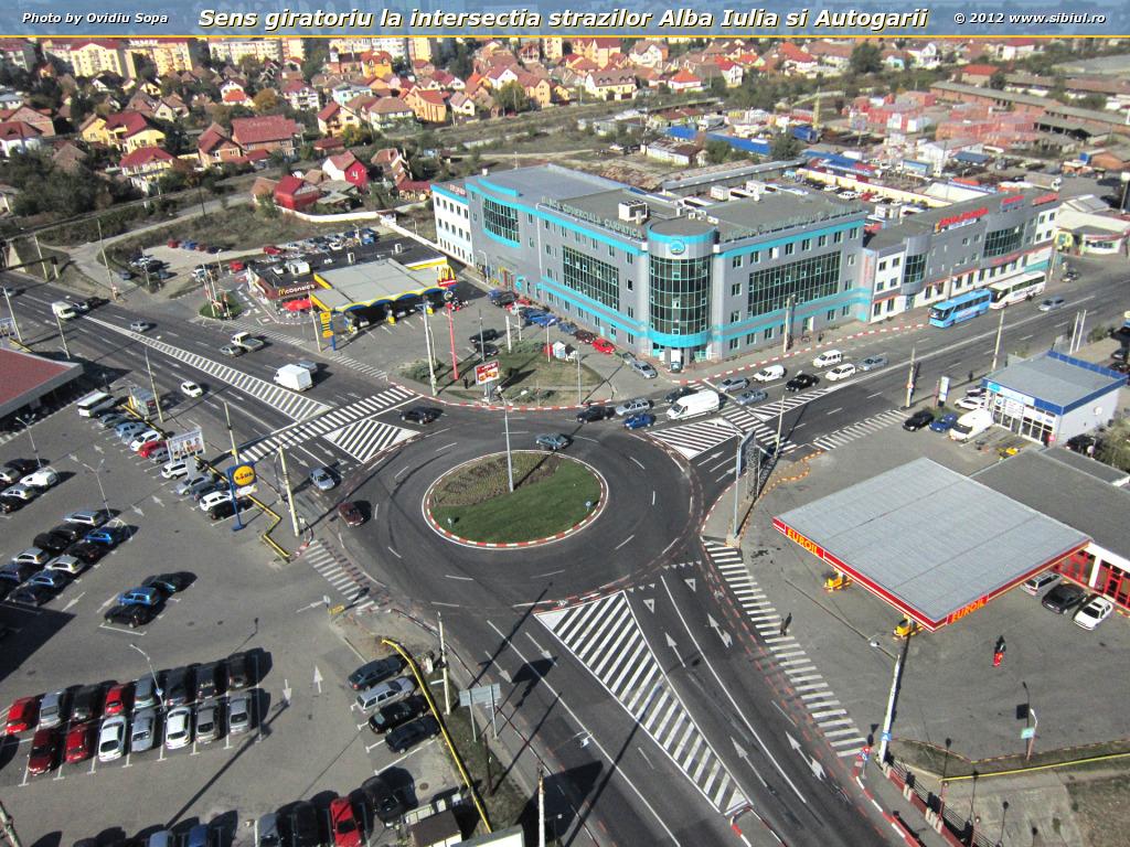 Sens giratoriu la intersectia strazilor Alba Iulia si Autogarii