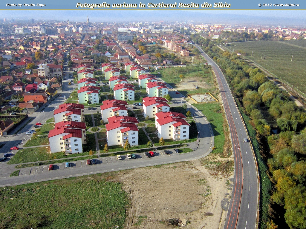 Fotografie aeriana in Cartierul Resita din Sibiu