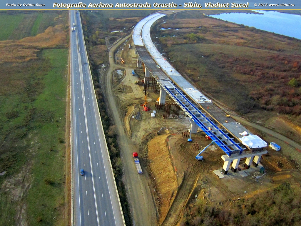 Fotografie Aeriana Autostrada Orastie - Sibiu, Viaduct Sacel