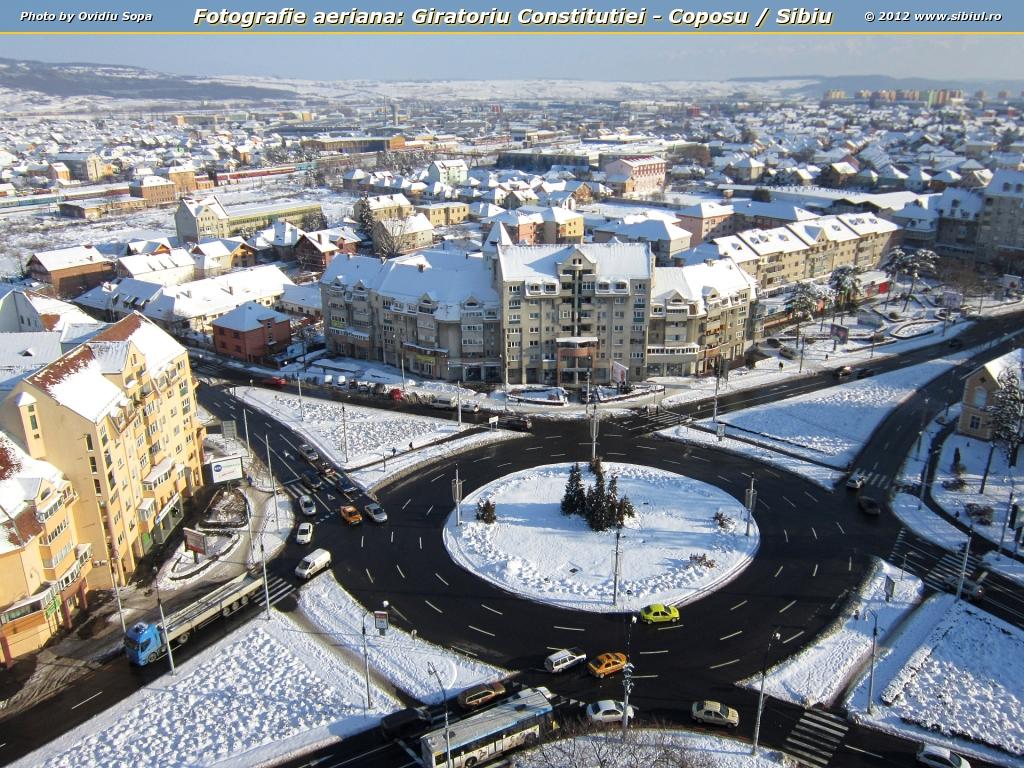 Fotografie aeriana: Giratoriu Constitutiei - Coposu / Sibiu