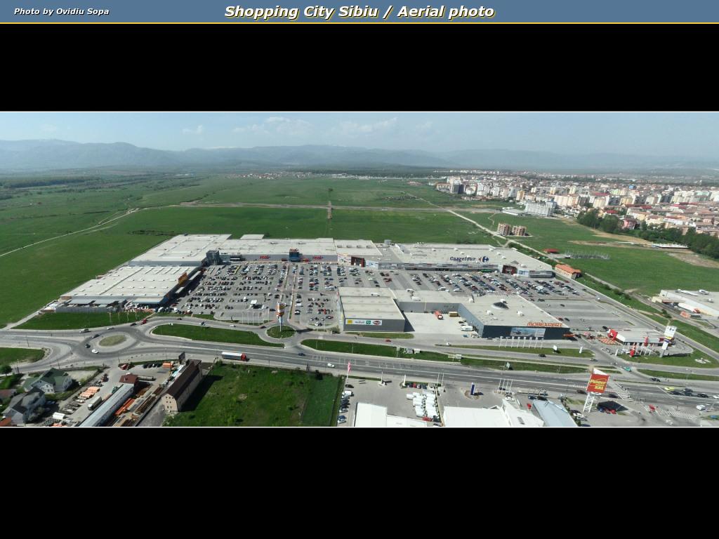 Shopping City Sibiu / Aerial photo