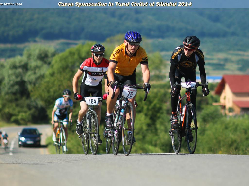 Cursa Sponsorilor la Turul Ciclist al Sibiului 2014