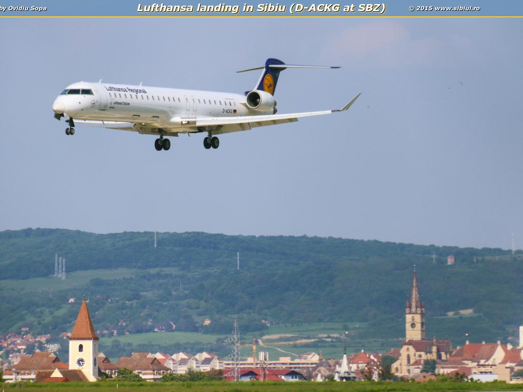 Lufthansa landing in Sibiu (D-ACKG at SBZ)