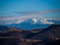 Poza Zilei Sibiu - Muntii Fagaras vazuti din Valari, Paltinis