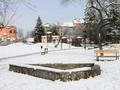 Iarna in parcul de copii din Terezian