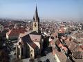 Biserica Evanghelica din Sibiu (fotografie aeriana)