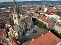 Biserica Evanghelica (fotografie aeriana)