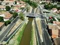 Noul pod peste Raul Cibin (fotografie aeriana)