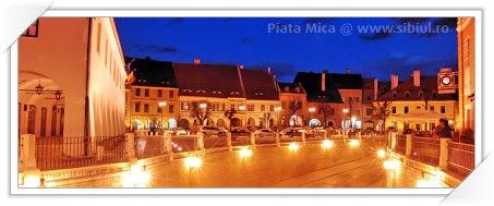 Piata Mica din Sibiu - noaptea