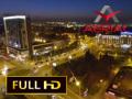 Piata Unirii din Sibiu - noaptea (Aerial video)