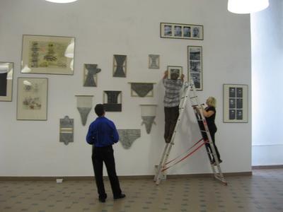 Expozitia cel ce se pedepseste singur. Stefan Bertalan, Florin Mitroi, Ion Grigorescu MNB Sibiu