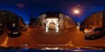 Casa cu Cariatide noaptea - Strada Mitropoliei